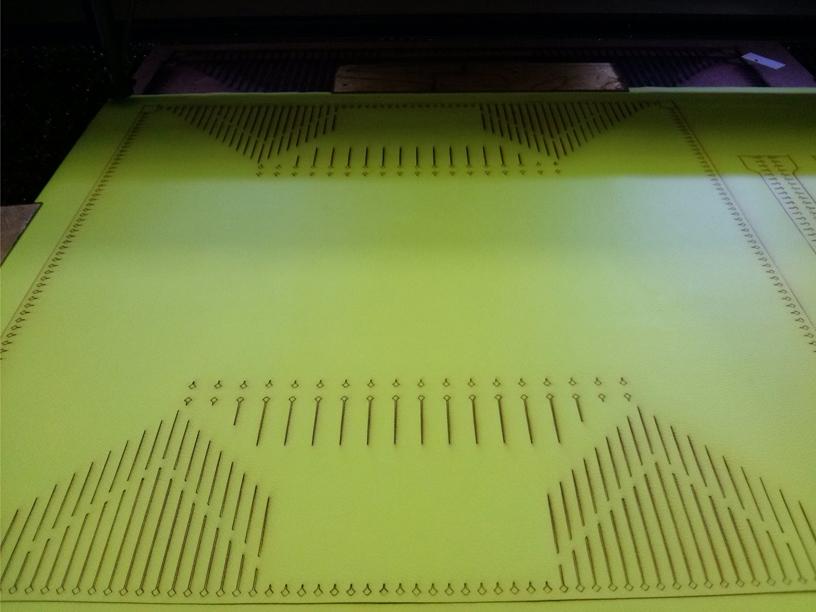 Intaglio eseguito con macchina laser cutter