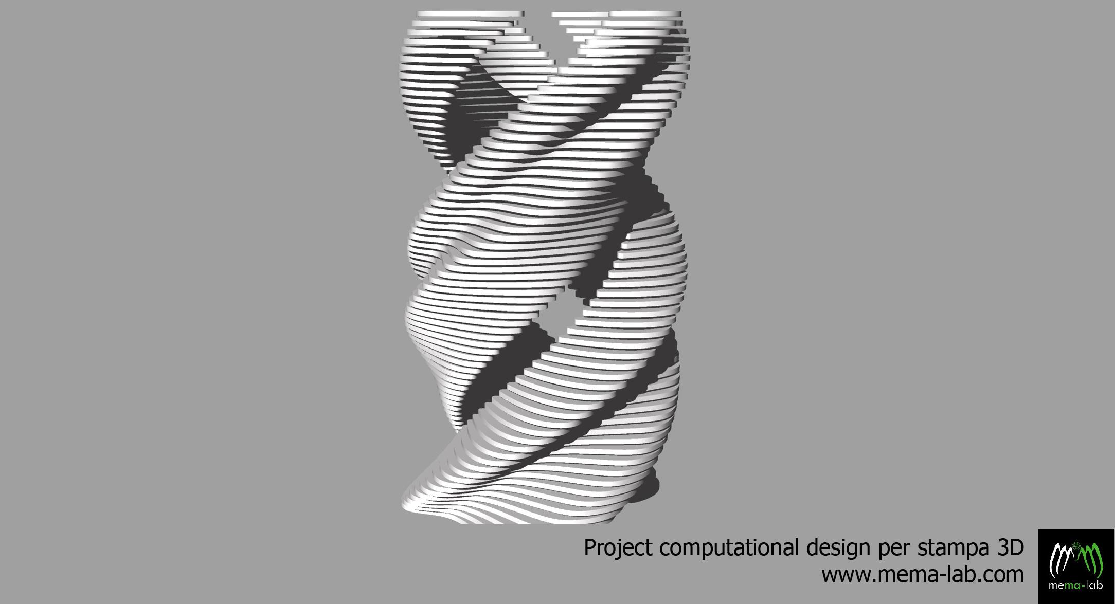 Studio forma modello 3D  MeMa Lab